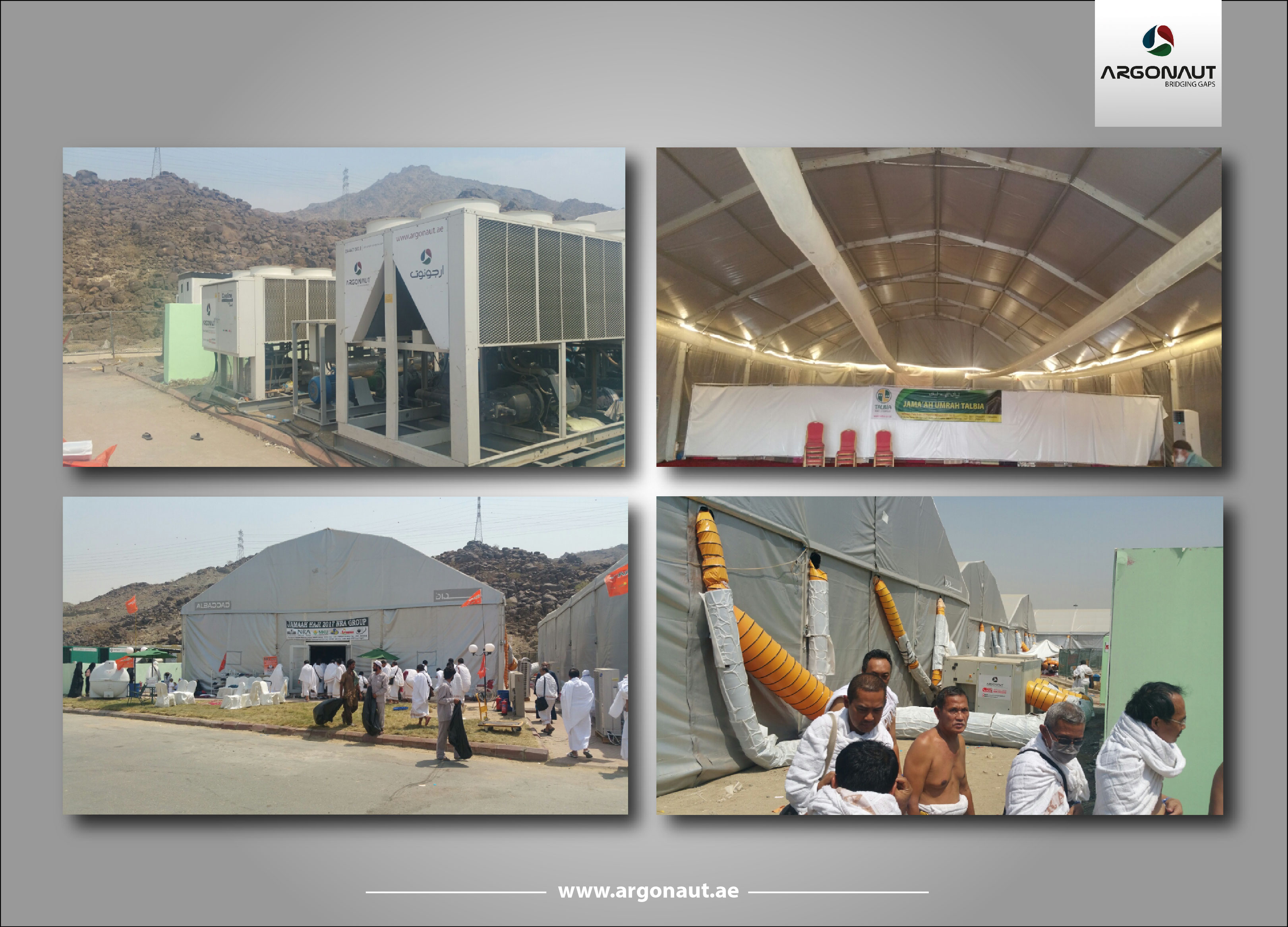 Argonaut Successfully Stepped in Arafat as the First Temporary Cooling Company for Arafat Tents.